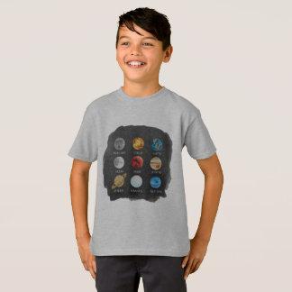 L'aquarelle de système solaire badine le T-shirt