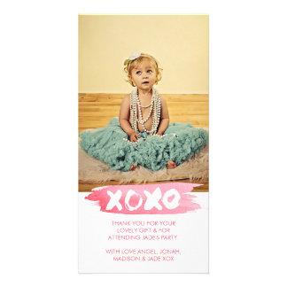 L'aquarelle de XOXO embrasse le carte photo de