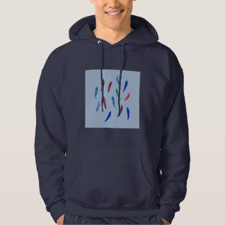 L'aquarelle fait varier le pas du sweatshirt à