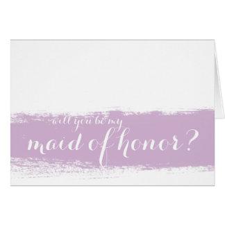 L'aquarelle lilas | soit ma domestique de carte
