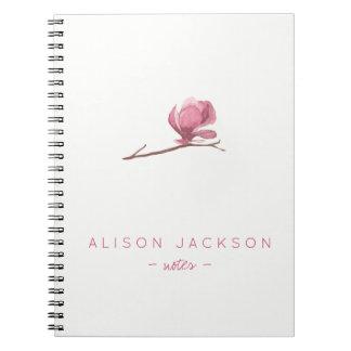 L'aquarelle minimaliste simple florale rougissent carnets