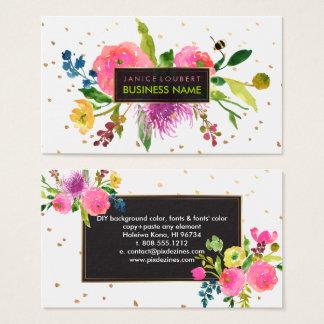 L'aquarelle/Ranunculus floraux de Cartes De Visite