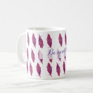 L'aquarelle rose fait varier le pas de la tasse