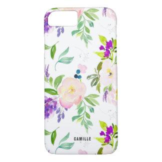 L'aquarelle savoureuse fleurit des pivoines et des coque iPhone 7
