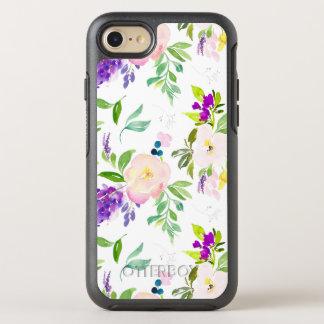 L'aquarelle savoureuse fleurit des pivoines et des coque otterbox symmetry pour iPhone 7