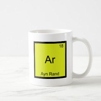 L'AR - Pièce en t drôle de symbole d'élément de ch Mug