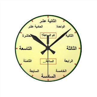 L'arabe (nombres définis entièrement) horloge ronde