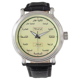 L'arabe (nombres définis entièrement) montres cadran