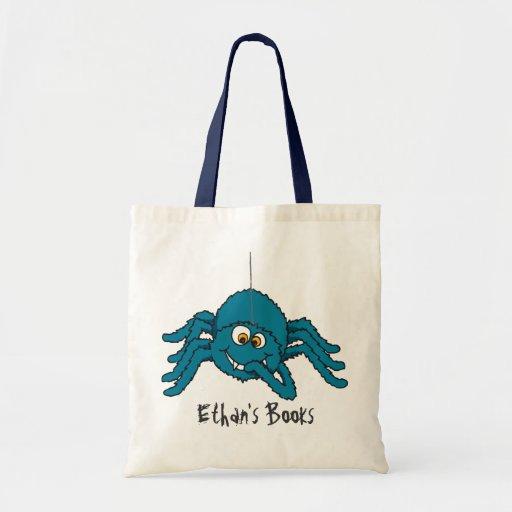 L'araignée bleue d'amusement badine le sac fourre-