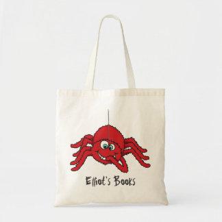 L'araignée rouge d'amusement badine le sac fourre-