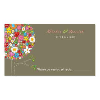 L'arbre de bruit de fleurs de ressort colore la carte de visite standard
