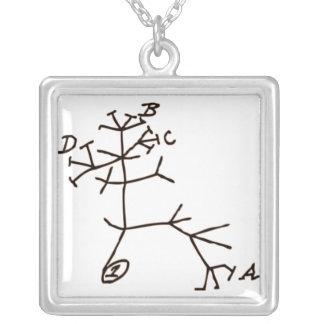 L'arbre de Darwin Pendentif Carré