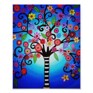 L'arbre de la vie fleurit la peinture photographes
