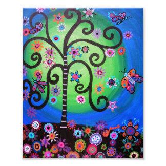 L'arbre de la vie fleurit la peinture photo d'art