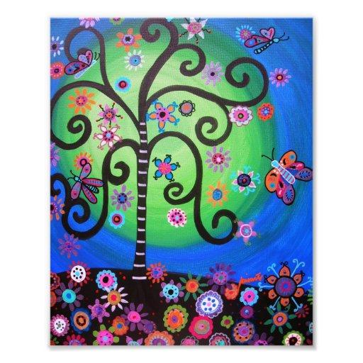 L'arbre de la vie fleurit la peinture photo