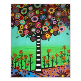 L'arbre de la vie mexicain fleurit la peinture  tirage photo