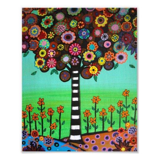 L'arbre de la vie mexicain fleurit la peinture photographies d'art