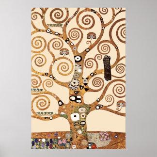 L'arbre de la vie par le klimt de Gustav Poster