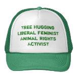 L'arbre étreignant des droits des animaux féminist casquette de camionneur