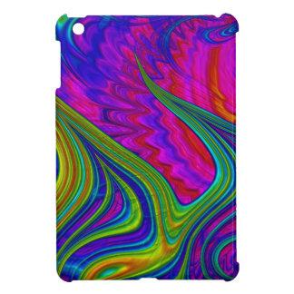 L'arc-en-ciel colore l'art 3D abstrait Coques Pour iPad Mini