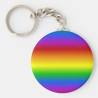 L'arc-en-ciel colore le porte - clé fait sur comma porte-clé rond
