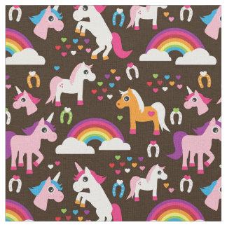 l'arc-en-ciel de licorne badine le cheval tissu