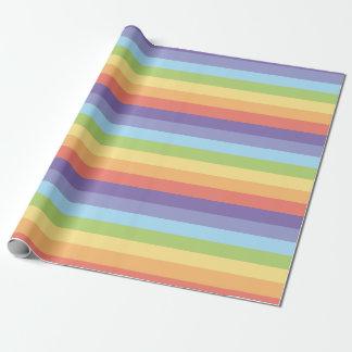 L'arc-en-ciel en pastel barre le gay pride papiers cadeaux noël