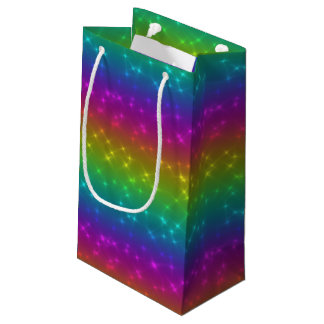L'arc-en-ciel lumineux miroite sac de cadeau