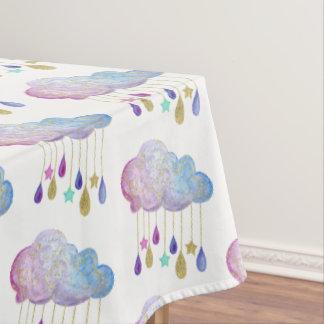 L'arc-en-ciel opacifie le baby shower de nappe