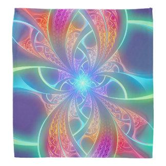 L'arc-en-ciel psychédélique tourbillonne motif de bandanas