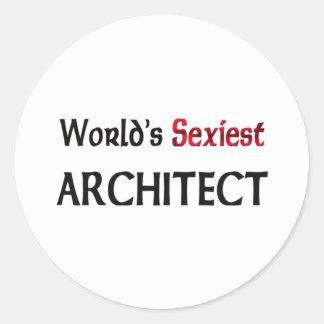 L'architecte le plus sexy du monde autocollant rond