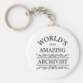 L'archiviste le plus extraordinaire du monde porte-clé rond