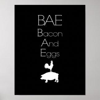 Lard de BAE 0 et affiche de cuisine d'oeufs Posters