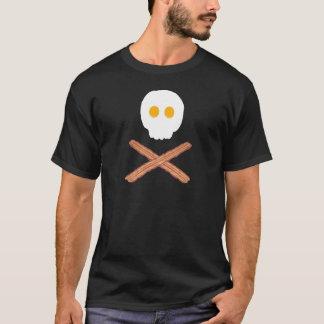 Lard et oeufs crâne et T-shirt d'os croisés