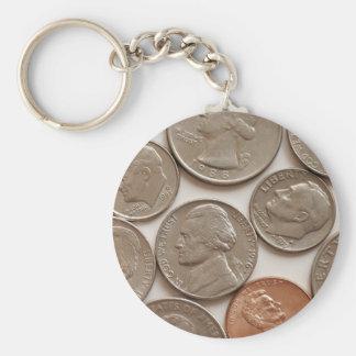L'argent invente le porte - clé porte-clé rond