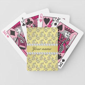 L'argent laisse à des baies le diamant de Bling de Jeu De Poker