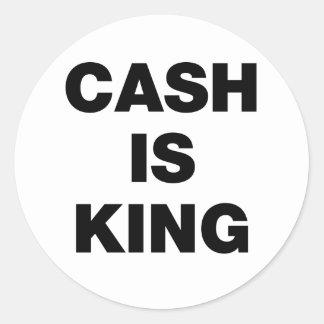 L'argent liquide est roi adhésifs ronds