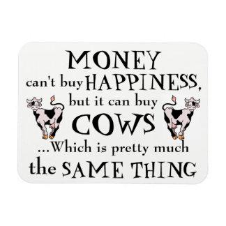 L'argent ne fait pas le bonheur - l'aimant de magnet flexible