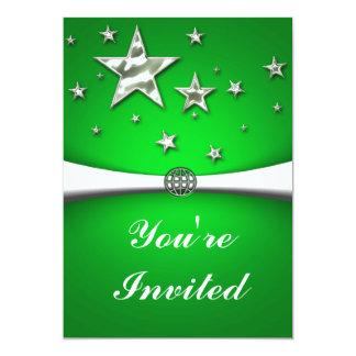 L'argent tient le premier rôle l'invitation de carton d'invitation  12,7 cm x 17,78 cm