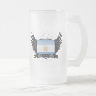 L'ARGENTINE FROSTED GLASS BEER MUG