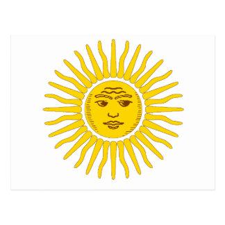 L'Argentine Sun Carte Postale