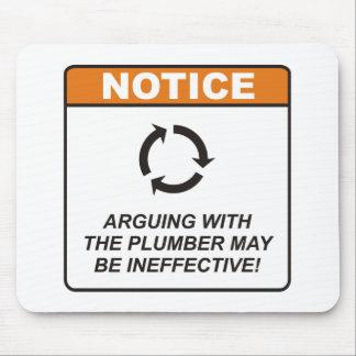 L'argumentation avec le plombier peut être tapis de souris