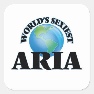 L'aria la plus sexy du monde stickers carrés
