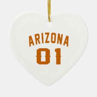 L'Arizona 01 conceptions d'anniversaire Ornement Cœur En Céramique
