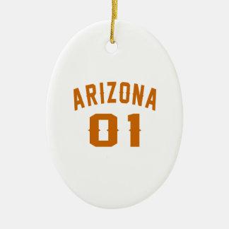 L'Arizona 01 conceptions d'anniversaire Ornement Ovale En Céramique