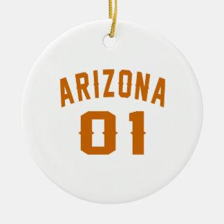 L'Arizona 01 conceptions d'anniversaire Ornement Rond En Céramique