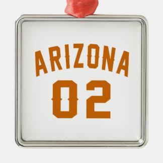 L'Arizona 02 conceptions d'anniversaire Ornement Carré Argenté