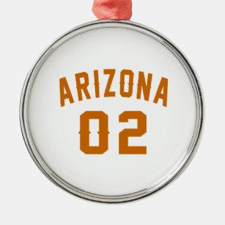 L'Arizona 02 conceptions d'anniversaire Ornement Rond Argenté