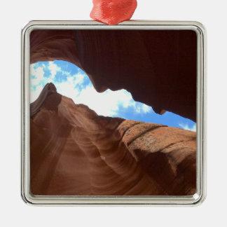 L'ARIZONA - canyon supérieur B d'antilope - roche Ornement Carré Argenté