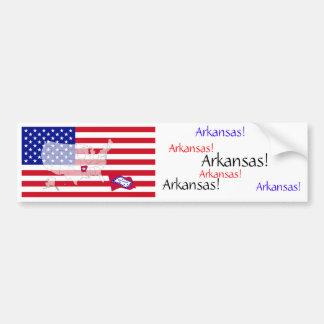 L'Arkansas, Etats-Unis Autocollant De Voiture
